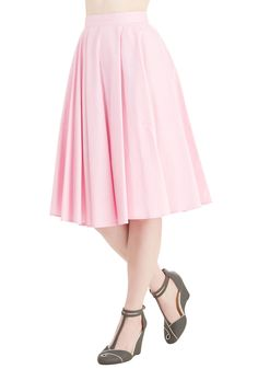 Whimsical Wonder Skirt in Bubblegum. Its easy to see why youre head over heels for this pink skirt! #pink #modcloth