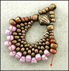 Linda's Crafty Inspirations:Peyote Fan Earrings ~ Seed Bead Tutorials