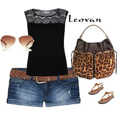 #jeans #leopard #prints  #summer #casual
