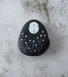 Beach Stone Kanzeon Bodhisattva Kuan Yin The by LillaJizo on Etsy, $11.00