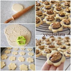 We make delicious cookies in our home, which wink at us in pastry shops … - Schokolade Cupcake Recipes For Kids, Kid Desserts, Cookie Desserts, Cupcakes, Cupcake Cookies, Moroccan Desserts, Turkey Cake, Pistachio Recipes, Biscuits