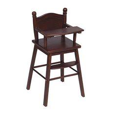 Guidecraft Doll High Chair Espresso - G98105