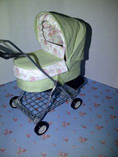 1/12th scale pram that converts into a pushchair... I made this. By TeenyTinyThings Miniatures