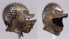 The Weirdest and Fiercest Helmets from the Age of Armoured Combat:  http://io9.com/the-weirdest-and-fiercest-helmets-from-the-age-of-armor-510686611