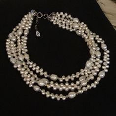 Check out this item in my Etsy shop https://www.etsy.com/listing/82506179/freshwater-pearls-and-swarovski-crystals