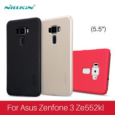 for asus zenfone 3 PC hard plastic back cover asus zenfone 3 ze552kl case with screen Protector for asus zenfone 3 free shipping