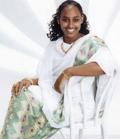 Ethiopian Beauty, Ethiopian Dress, Ethiopian Traditional Dress, Traditional Dresses, African Fashion, African Style, Women's Fashion, Eritrean, Beautiful People