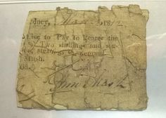 Three Th C Cancelled Promissory Notes  Colonial