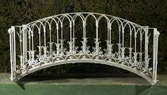 Image result for wrought iron garden bridge