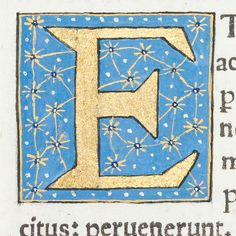 "Decorated initial ""E"" from Scriptores historiae Augustae"
