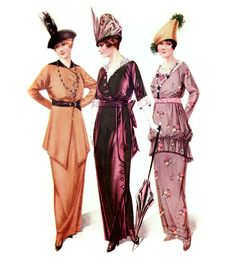 Vintage Fashion Plates – Gowns for Semi-Formal Social Gatherings @ Vintage Fangirl