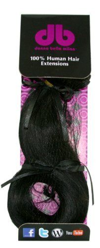 Donna Bella Full Head,100% Human Hair Clip In Hair Extensions, 1, 16 Inches by Donna Bella. $105.50. Wefts are 16 inches in length. Ready to wear, clips already in place. 100 % human Remy hair. Each pack contains: one 9 inches wide weft, one 7 inches wide weft, two 6 inches wide wefts, and four 1.5 inches wide wefts. Donna Bella 100% human Remy hair can be cut, blown dry, curled, straitened and styled to your liking. Each package contains 4.0 ounces (1/4 pound) o...