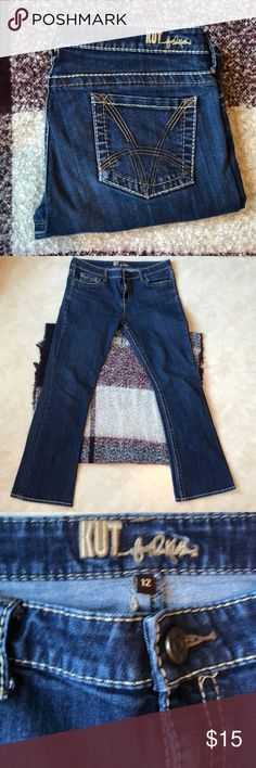 """Kut From The Kloth Bootcut Size 12 Jeans Kut From The Kloth Bootcut Size 12 Dark Denim Jeans  Inseam 31"""" Great Condition Kut from the Kloth Jeans Boot Cut"""
