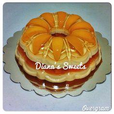 Peach gelatin jello Gelatina de durazno