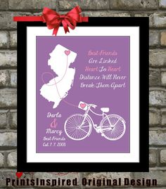 Going Away Gift for Best Friend Personalized by Printsinspired