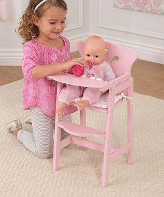 Look what I found on #zulily! Pretty N' Pink Doll High Chair by KidKraft #zulilyfinds