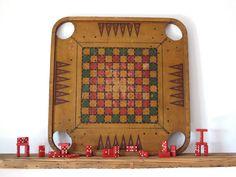 Antique Board Games  Vintage Game Boards by SnapshotVintage, $92.00