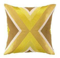 Trina Turk Building Yellow Embroidered Pillow. Product in photo is from www.wellappointedhouse.com