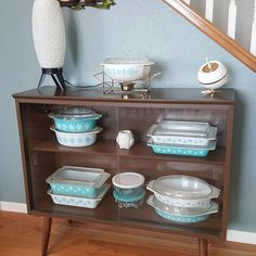Pyrex Display, Dish Storage, Small Cabinet, Winter Theme, Vintage Decor, China Cabinet, Shabby Chic, Dishes, Instagram Posts