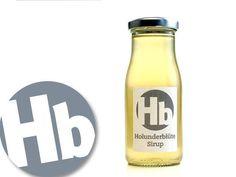 """Holunderblüte Sirup von si&rup.  Lecker-frischer Sirup aus den Blüten des Schwarzen Holunder, der in Norddeutschland oft auch als """"Flieder"""" und in Altbayern und Österreich als """"Holler"""" bezeichnet wird."""