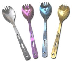 Titanium sporks, it's all the camping rage