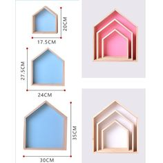 Wooden Shelf For Nursery Decor Kids Room Wall Shelf Wood For Children Nordic Room Decor