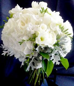 Bridal bouquet...contemporary, yet classic!