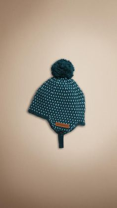 4dffeab8f20 CASHMERE COTTON BOBBLE HAT
