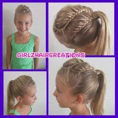 Cool ponytail with braids