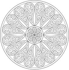 Paisley mandala coloring page sample, Dover Publications #doodle #pattern:                                                                                                                                                                                 Plus