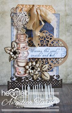 Coffee Talk Tag from Heartfelt Creations and Chameleon Makers