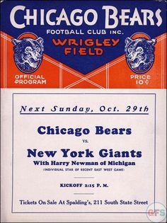 Bears Program 1940's 🏈