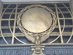 Art Deco bank main entrance, brass decoration, from the 1930s - Canal Street, Boston, Massachusetts, New England, USA - taken by iPhone camera in late February, 2017