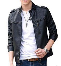 9e0e026e904  43.69 - Highisa Men Easy Care Punk Rock Original Fit Faux Leather Jackets  Motorcycle Jacket