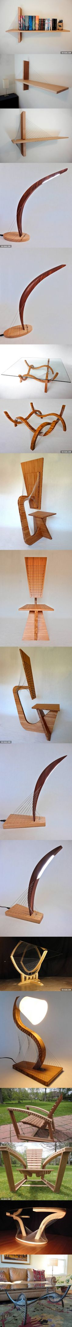 I design and make furniture that's held together completely by tension... What do you think?