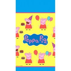 Peppa Pig Plastic Table Cover 54x96in | Wally's Party Factory #peppa #pig #tablecover
