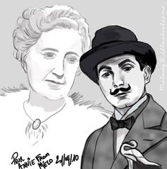 Agatha Christie and Hercule Poirot | Hercule Poirot, one of the most famous fictional characters of all time. Synonymous with waxed moustaches, perfectionism and little grey cells, for over ninety years he has been fascinating crime fiction lovers across the world.