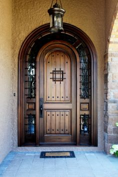 Rustic Medieval Walnut, Hand-Crafted, Custom-Woodworking Modern Entrance Door, Modern Front Door, Modern Entryway, Front Door Entrance, Grand Entrance, Entry Doors, Barn Doors, Arched Doors, Pivot Doors