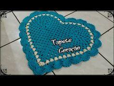 Tapete Coração de Crochê - YouTube