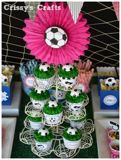 Girls Soccer Party by Cris from Crissy's Crafts! GAOL!! This party will be a hit, especially with the killer details!