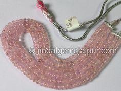Morganite Smooth Roundelle Gemstone Beads.