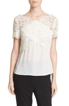 The Kooples Lace Tee available at #Nordstrom