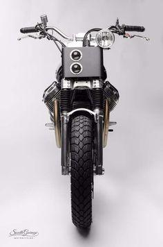 "Moto Guzzi V7 Street Tracker ""Savile"" by South Garage Motor Co #motorcycles #streettracker #motos   caferacerpasion.com"