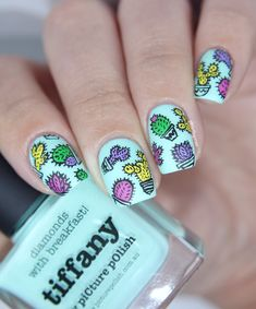cactus nail art - Buscar con Google