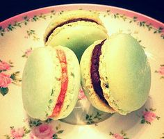 Rasperry and Chocolate Ganache Macarons by B.A.K.E.D, Perth WA Baking Cupcakes, Chocolate Ganache, Honeydew, Macarons, Fruit, Food, Macaroons, Honeydew Melon, Eten