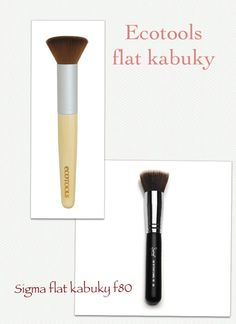 Dupes for Sigma Flat Kabuki Brush #F80 - Ecotools Buffing Brush Sigma