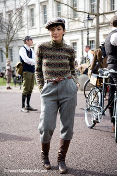 High Waisted tweed trousers, full length, tapered, cropped, wide or straight legged.