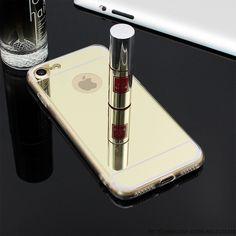 뜨거운! 럭셔리 거울 전기 소프트 클리어 tpu 전화 케이스 iphone 6 6 s 4.7 인치/7 플러스 5.5 인치 5 5 초 se 다시 커버 가방