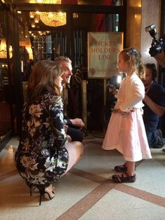 Peter and Jenna being interviewed by a little Whovian. World Tour New York.