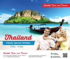 """Here's our Big Group Departure for """"THAILAND"""". Join our All inclusive Family Special Holidays @ 29,800 on May 8th !!! Call 9789999711 for Bookings or mention your email id to receive our Package details... BOOK NOW!! JOIN THE BEST HOLIDAY TRIP FROM CHENNAI!! #Shakthitoursandtravels #Thailand #tours   #Besttouroperatorinchennai #Summerholiday #specialdeals More on - www.shakthitoursandtravels.in"""